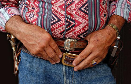 a cowboy waits his turn