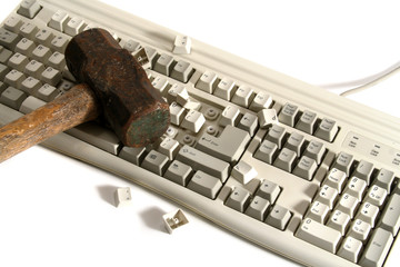 damaged keyboard