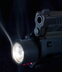 lighted gun