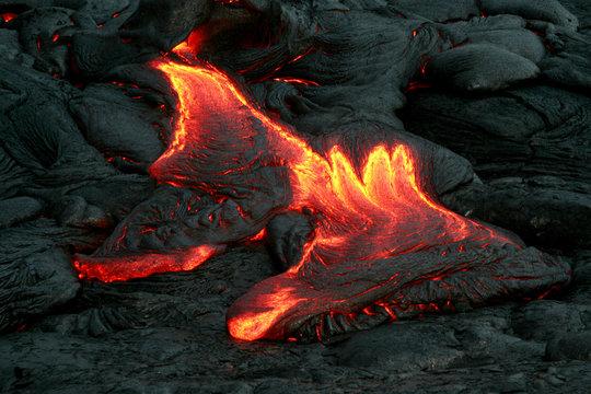 molten lava outbreak