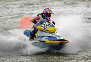 Foto op Plexiglas Water Motor sporten jetbike