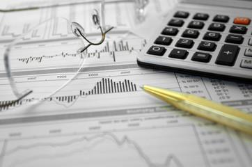 finances, graphiques, statistiques et calculs