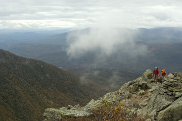 hiking above ravine