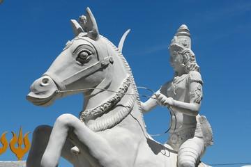 chevalier, protecteur d'un temple tamoul