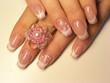 fingernägel mit farbverlauf und ring