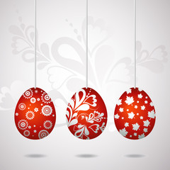 red easter eggs