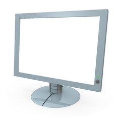 computer monitor with blank screen
