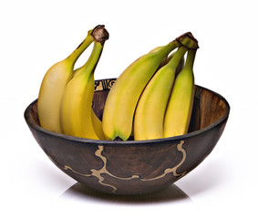 bananas in an african bowl