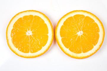 two orange slices