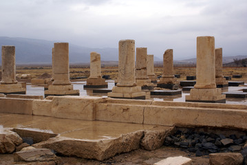 columns in ruined palace