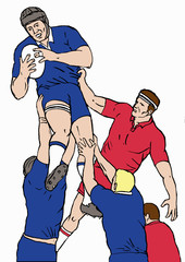 rugby lineout catch lifting