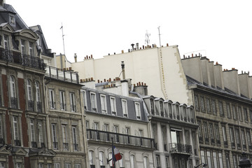parisian neighborhood with histroic homes