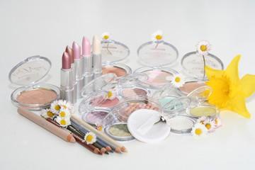 spring makeup setup