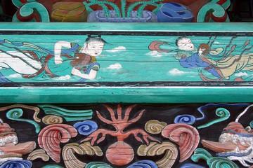 détail d'un temple bouddhiste
