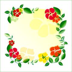 flowers; decorative panel