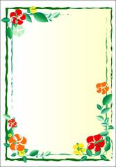 flowers; decorative panel; border