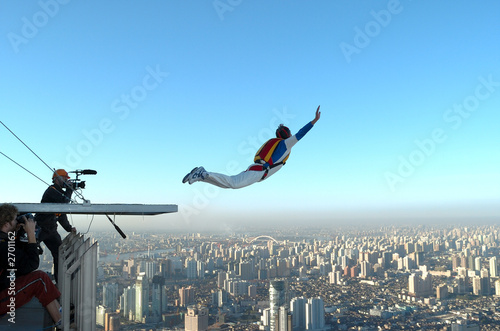 building base jump in shanghai stock photo and royalty free images
