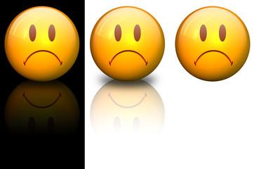 smiley mécontent en 3d