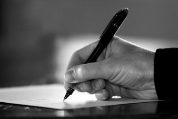 signing a document/contract