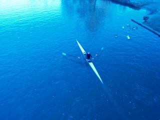 blue morning row