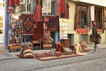 typically  turkey street in instanbul.
