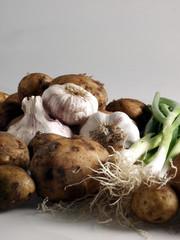 knoblauch ,kartoffeln und lauch 10