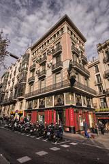 building in center of barcelona, spain