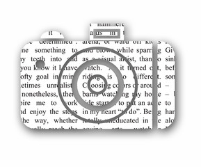 newspaper camera cutout with drop shadow