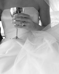 bride with champaign glass