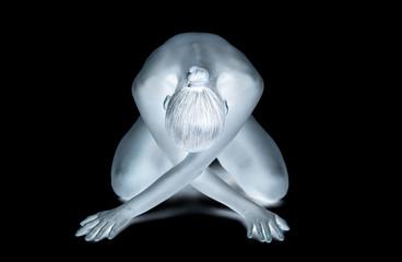 donna in ginocchio