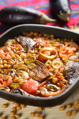 aubergine with vegetables