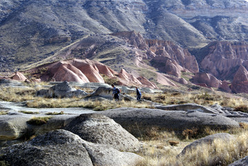 tourist in cappadocia
