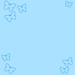 butterfly border paper