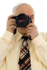 senior successful press photographer