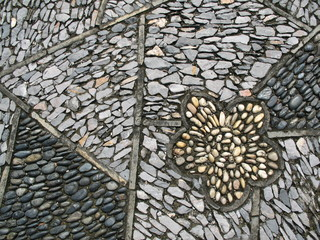 stone road or walkway closeup.