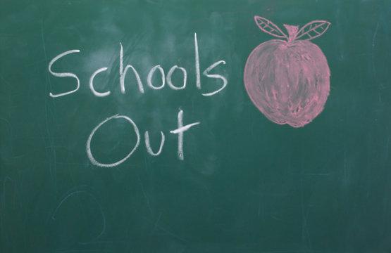 chalkboard - schools out