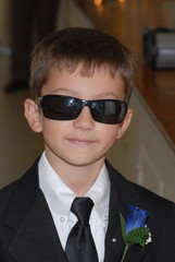 child in business suit
