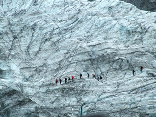 Zelfklevend Fotobehang Gletsjers glacier walk