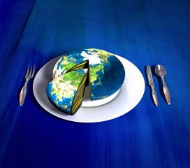 earth cake - asia