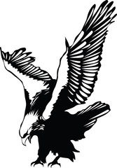 vector flying eagle