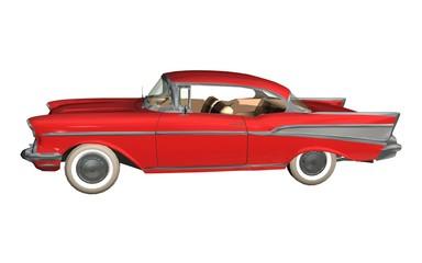 Foto op Canvas Snelle auto s voiture ancienne