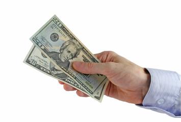hand over the money