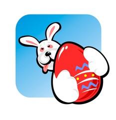 rabbit and big egg