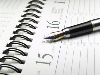 calendar and pen close-up