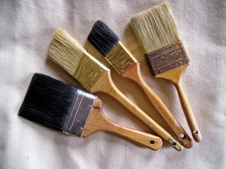 house painter's brushes