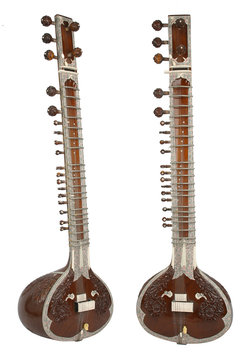 sitar, a string instrument from india