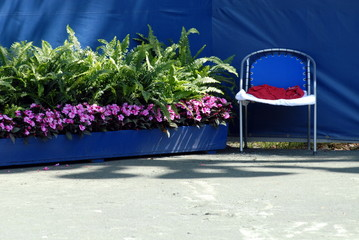 tennis court decoration
