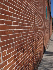 long brick wall