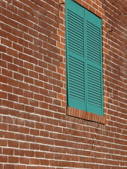 brick wall and louver