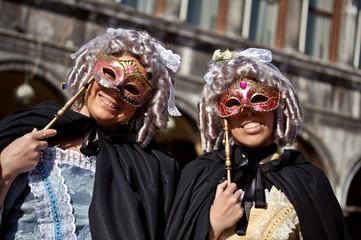 venetian masqueraders